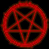 Перевернутая пентаграмма. Символ черной магии.